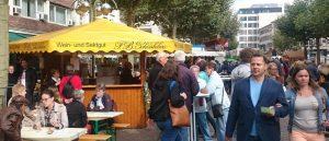 Rheingauer Weinmarkt in Frankfurt in der Freßgass´