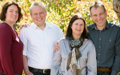 Susanne, Bernd, Bettina und Ralf Schönleber