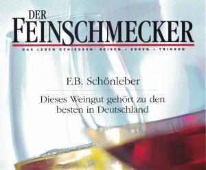 """Wein- und Sektgut Schönleber vom Magazin """"Der Feinschmecker"""" ausgezeichnet."""