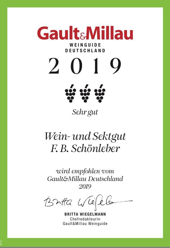 Gault Millau 2019 Rheingauer Weingut Schönleber